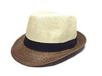 Шляпа Челентанка (Beige & Brown)