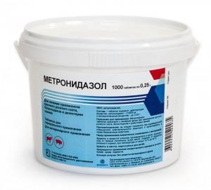 Метронидазол 25% 500 г ветеринарный антибактериальный препарат