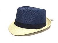 Шляпа Челентанка (Blue & Beige)