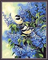 Раскраска по номерам Синички в сирени, 40х50см. (MG216, КН216), фото 1