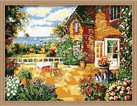 """Картина раскраска по номерам на холсте """"Завтрак на террасе"""", MQ005, 60х80см., фото 1"""