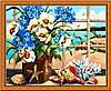 """Картина раскраска по номерам """"Цветы у моря"""", MG048, 40х50см"""