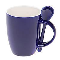 Чашка с ложкой Original Dark Blue