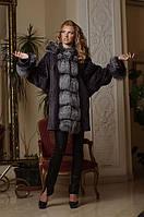 Шуба из мутона и чернобурки летучая мышь mouton and silver fox bat-shaped fur coat fur-coat