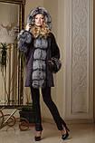 Шуба из мутона и чернобурки летучая мышь mouton and silver fox bat-shaped fur coat fur-coat, фото 3