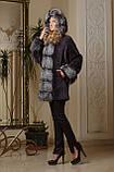 Шуба из мутона и чернобурки летучая мышь mouton and silver fox bat-shaped fur coat fur-coat, фото 4