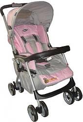 Детская прогулочная коляска Everflo E-301 pink - grey (Эверфло)
