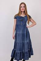 Сарафан женский № 6038 джинсовые сарафаны