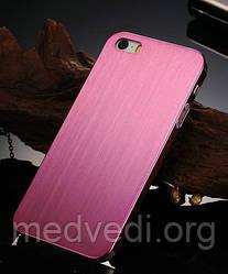 Розовый металлический чехол на iphone 5/5S