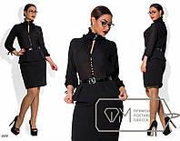 Черное деловое платье большого размера