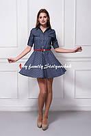 Платье джинсовое в ромашки