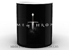 Кружка Game of thrones на чёрном фоне