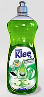 Гель для мытья посуды Klee 1л  зеленое яблоко