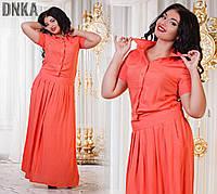Платье на кнопках с карманами с421 гл