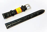 Ремешок кожаный Modeno Spain для наручных часов, черный, 16 мм