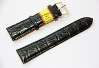 Ремешок кожаный Modeno Spain для наручных часов, черный, 22 мм
