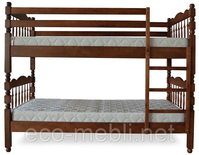 Ліжко ТИС двохярусне Трансформер 2 (Сосна, Бук, Дуб)