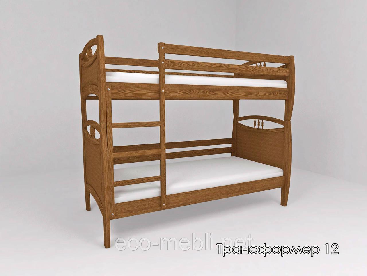Ліжко ТИС Трансформер 12 (Сосна, Бук, Дуб)