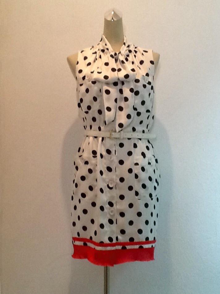 Платье в стиле  Moschino летнее в горохи