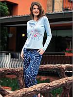 Красивая женская пижама 100% хлопок