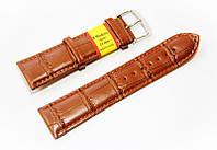Ремешок кожаный Modeno Spain для наручных часов, коричневый, 24 мм