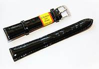 Ремешок кожаный Modeno Spain для наручных часов, черный, 18 мм