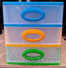 """Комод-органайзер """"Mini Medium"""", пластиковый на 3 секции. Производитель Украина."""