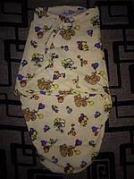 Пеленка-кокон на липучках  теплая (конверт для сна)