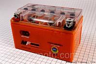 Аккумулятор 7Аh YTX7A-BS (гелевый, оранж) 150/85/95мм (OUTDO)