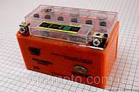 Аккумулятор 7Аh (гелевый, оранж) 150/85/95мм с ИНДИКАТОРОМ (OUTDO)