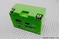 Аккумулятор 8Аh МОТО YT9B-4 (гелевый, зелен.) 155/75/105мм (MSU)