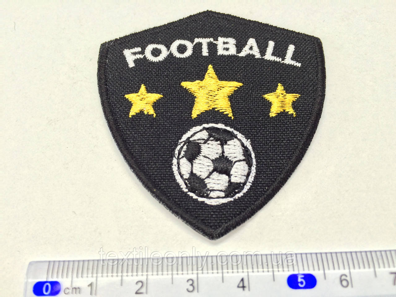 Нашивка FOOtball цвет черно белый