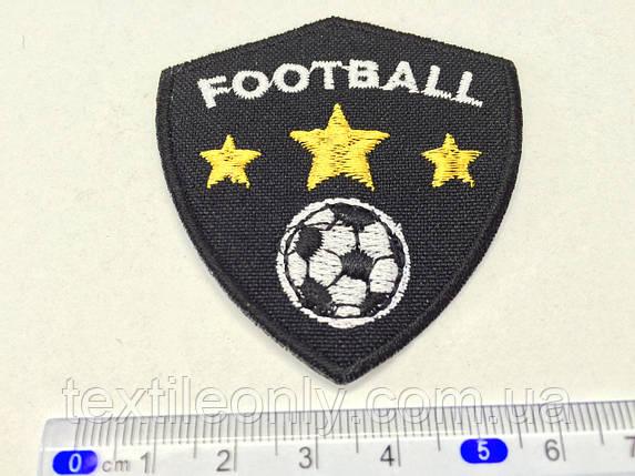 Нашивка FOOtball цвет черно белый , фото 2