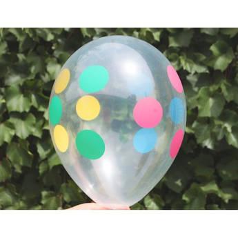 Воздушные шарики прозрачные Горох 30 см