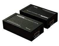 Удлинитель HDMI сигнала по витой паре до 30метров (MT-ED02)