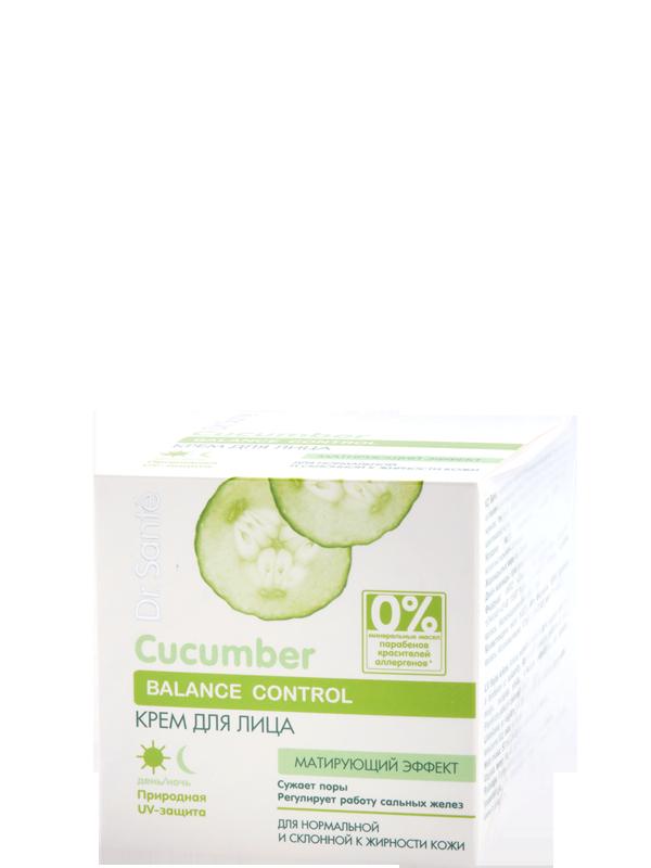 Крем для лица с матирующим эффектом Cucumber Balance Control, 50 мл.