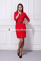 Платье мод. 355-1 офисное красное