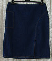 Юбка женская джинсовая демисезонная прямая миди бренд Cherokee р.50 6017а