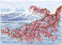 Набор для вышивания бисером Ветка сакуры НКП-004