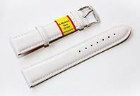 Ремешок кожаный Modeno Spain для наручных часов, белый, 22 мм