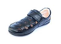 Школьные туфли-сандали д/мальчика. Кожа. 38 р