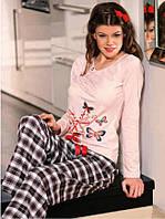 Нежная хлопковая пижама женская, фото 1