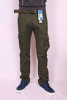 """Мужские джинсы-карго защитного цвета-хаки """"Iteno"""".30-38рр( есть другие цвета ), фото 1"""