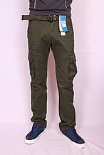 """Чоловічі джинси-карго захисного кольору хакі """"Iteno"""".30-38рр( є інші кольори )"""