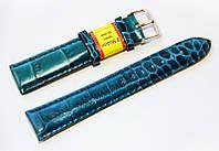 Ремешок кожаный Modeno Spain для наручных часов, бирюзовый, 20 мм