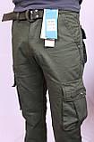 """Мужские джинсы-карго защитного цвета-хаки """"Iteno"""".30-38рр( есть другие цвета ), фото 4"""