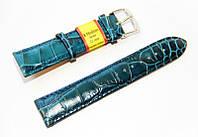 Ремешок кожаный Modeno Spain для наручных часов, бирюзовый, 22 мм