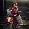 Костюм юбка+свитер клетка, фото 3
