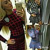 Костюм юбка+свитер клетка, фото 4