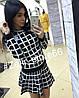 Костюм юбка+свитер клетка, фото 5